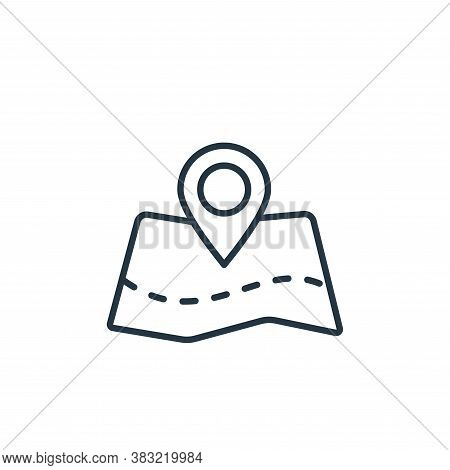map point icon isolated on white background from travel collection. map point icon trendy and modern