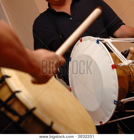 Musicians Playing Drums