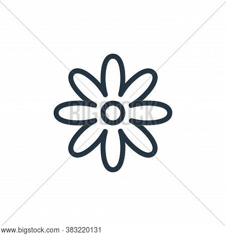 flower icon isolated on white background from flower collection. flower icon trendy and modern flowe