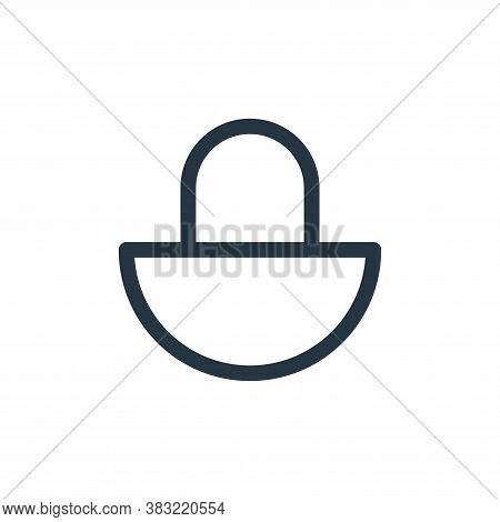 lock icon isolated on white background from smartphone ui ux part collection. lock icon trendy and m