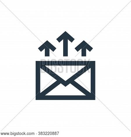 outgoing email icon isolated on white background from marketing collection. outgoing email icon tren