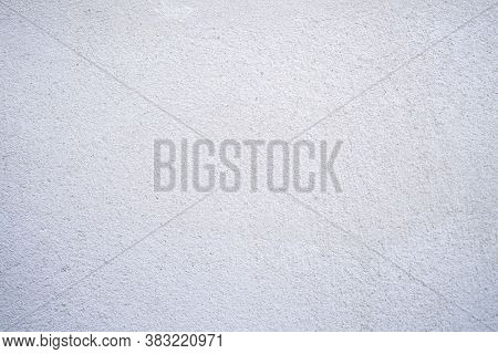 Cement Coating Wall, Ceiling And Floor Texture Background From House In Construction. Grey Tone Beto
