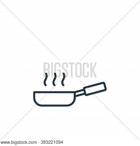 pan icon isolated on white background from kitchen collection. pan icon trendy and modern pan symbol