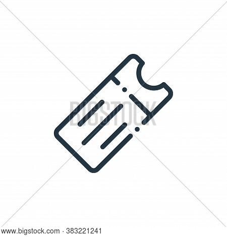 ticket icon isolated on white background from travel and adventure collection. ticket icon trendy an