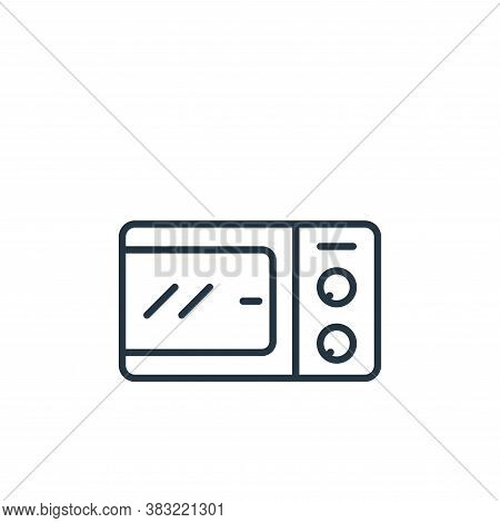 microwave oven icon isolated on white background from kitchen collection. microwave oven icon trendy