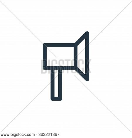 sound icon isolated on white background from finance bank collection. sound icon trendy and modern s