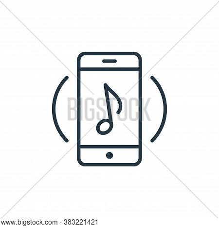 music app icon isolated on white background from smart devices collection. music app icon trendy and