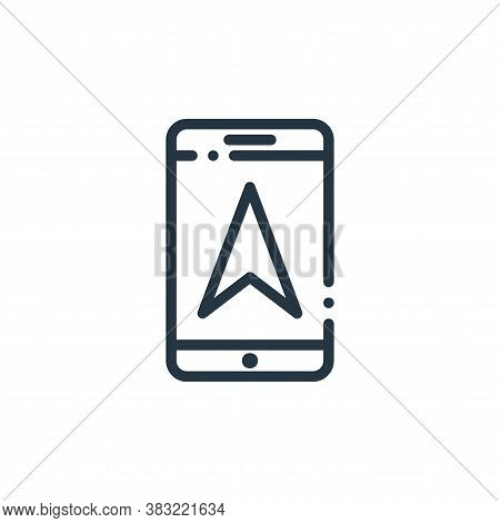 gps phone icon isolated on white background from travel and adventure collection. gps phone icon tre
