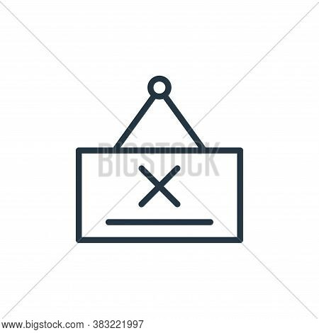 door hanger icon isolated on white background from shopping and ecomerce collection. door hanger ico