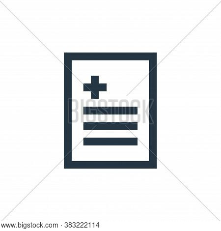 report icon isolated on white background from medical collection. report icon trendy and modern repo