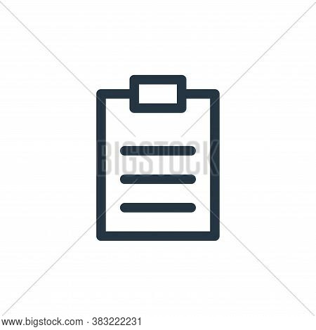 survey icon isolated on white background from finance bank collection. survey icon trendy and modern