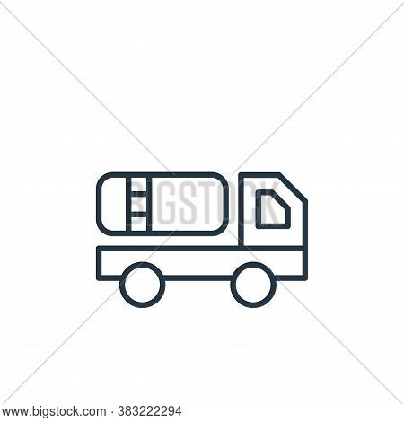 tank truck icon isolated on white background from oil industry collection. tank truck icon trendy an