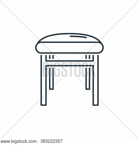 stool icon isolated on white background from household collection. stool icon trendy and modern stoo