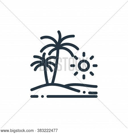 beach vacation icon isolated on white background from travel and adventure collection. beach vacatio