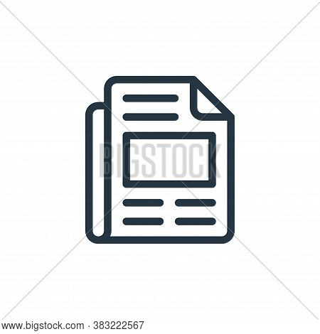 newspaper icon isolated on white background from old age collection. newspaper icon trendy and moder