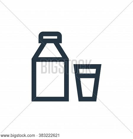 milk bottle icon isolated on white background from nature collection. milk bottle icon trendy and mo
