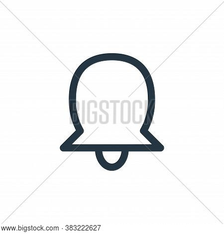 bell icon isolated on white background from smartphone ui ux part collection. bell icon trendy and m
