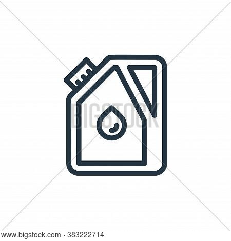 jerrycan icon isolated on white background from ecology line collection. jerrycan icon trendy and mo