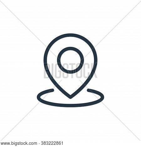 location icon isolated on white background from ecommerce shopping collection. location icon trendy