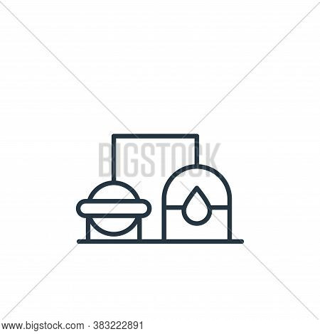 refinery icon isolated on white background from oil industry collection. refinery icon trendy and mo