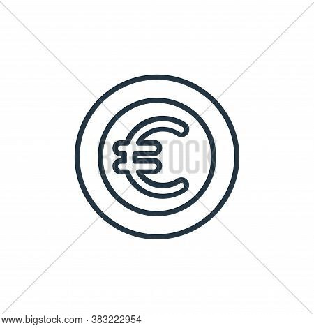 euro icon isolated on white background from finance collection. euro icon trendy and modern euro sym