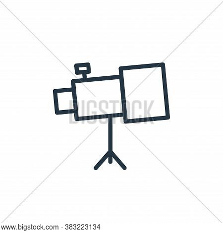 telescope icon isolated on white background from school and education line collection. telescope ico