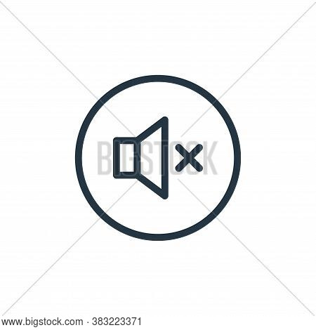 mute icon isolated on white background from media player collection. mute icon trendy and modern mut