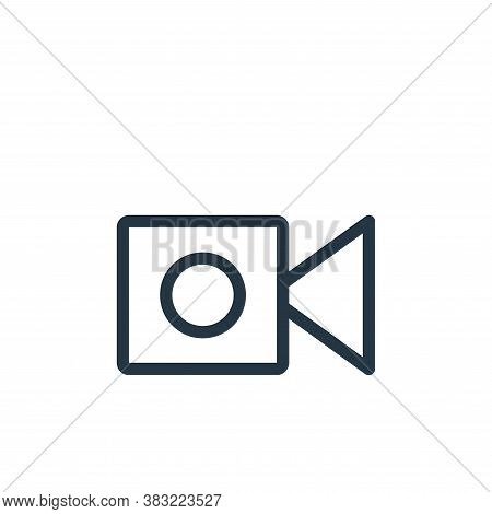 video camera icon isolated on white background from shopping collection. video camera icon trendy an