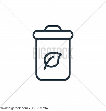 trash bin icon isolated on white background from ecology collection. trash bin icon trendy and moder