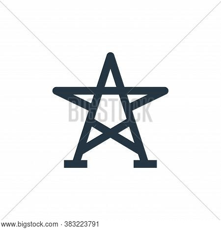 grid star icon isolated on white background from industry collection. grid star icon trendy and mode