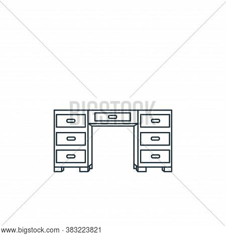 desk icon isolated on white background from household collection. desk icon trendy and modern desk s
