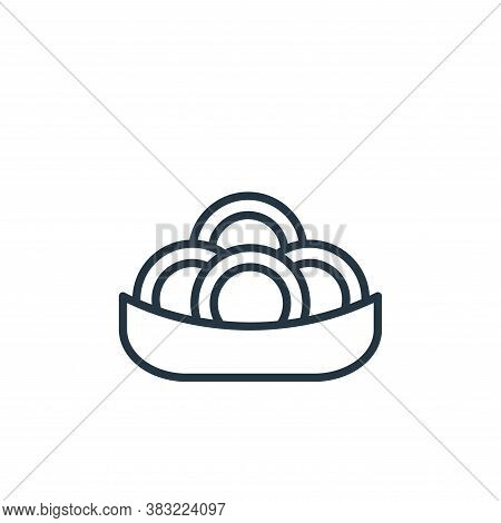 spaghetti icon isolated on white background from food collection. spaghetti icon trendy and modern s