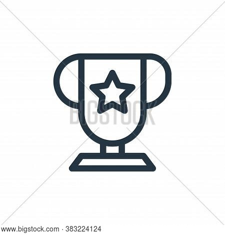 trophy icon isolated on white background from shopping collection. trophy icon trendy and modern tro