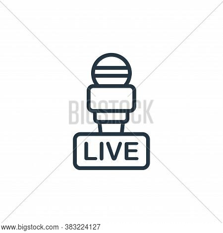live icon isolated on white background from news and journal collection. live icon trendy and modern