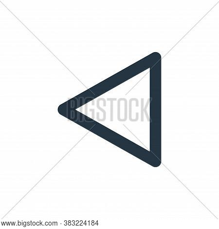 left arrow icon isolated on white background from user interface collection. left arrow icon trendy