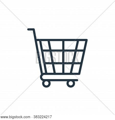 cart icon isolated on white background from shopping and ecomerce collection. cart icon trendy and m