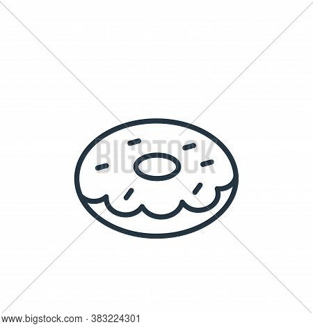 doughnut icon isolated on white background from food collection. doughnut icon trendy and modern dou