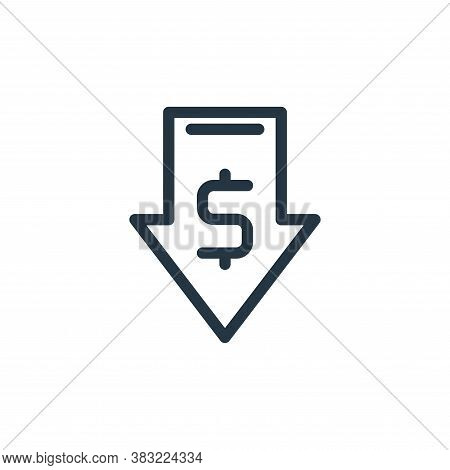 down icon isolated on white background from shopping collection. down icon trendy and modern down sy
