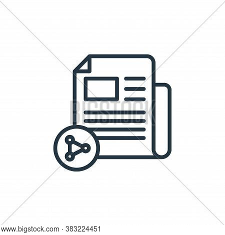 sharing icon isolated on white background from news and journal collection. sharing icon trendy and