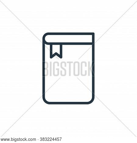 notebook icon isolated on white background from school and education line collection. notebook icon