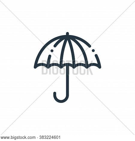 umbrella icon isolated on white background from travel and adventure collection. umbrella icon trend