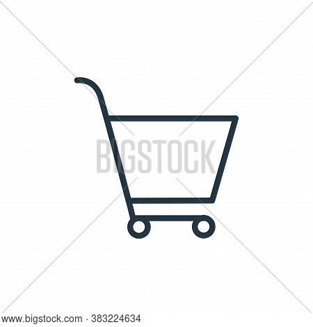 trolley icon isolated on white background from shopping and ecomerce collection. trolley icon trendy