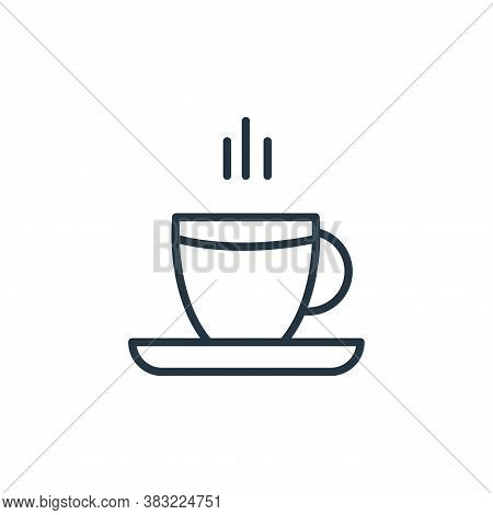 hot tea icon isolated on white background from food collection. hot tea icon trendy and modern hot t