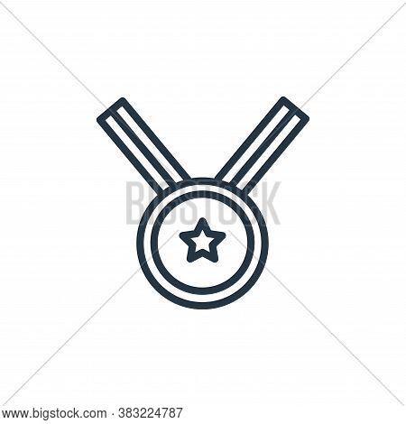 medal icon isolated on white background from school and education line collection. medal icon trendy
