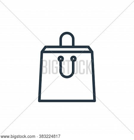bag icon isolated on white background from shopping and ecomerce collection. bag icon trendy and mod