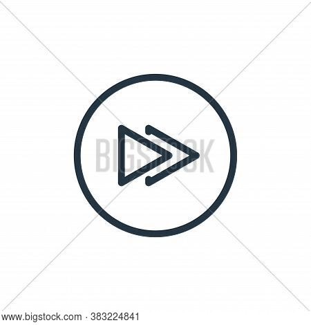 fast forward icon isolated on white background from media player collection. fast forward icon trend