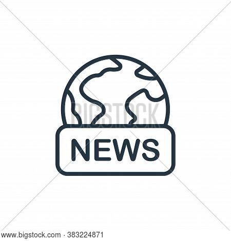 world news icon isolated on white background from news and journal collection. world news icon trend