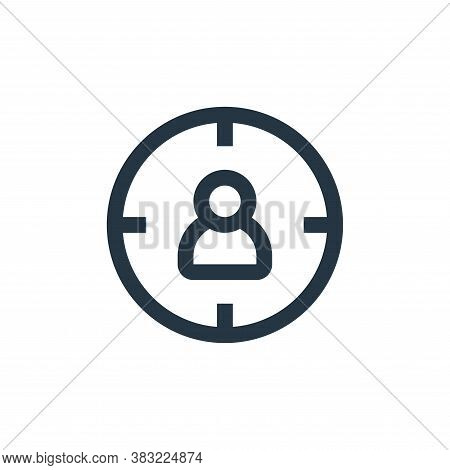 targeting icon isolated on white background from marketing collection. targeting icon trendy and mod
