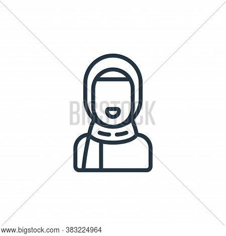 girl icon isolated on white background from ramadan collection. girl icon trendy and modern girl sym