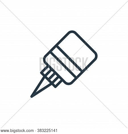 ink icon isolated on white background from school and education line collection. ink icon trendy and